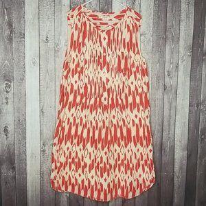 Crewcuts cotton ikat printed sleeveless dress